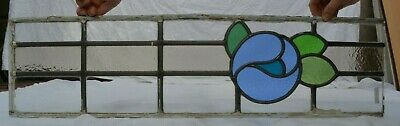 Leaded light stained glass window panel for restoration. S676j