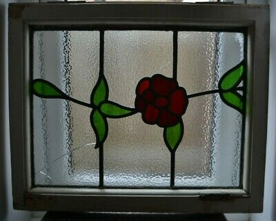 1 leaded light stained glass window sash for restoration/spares. B873