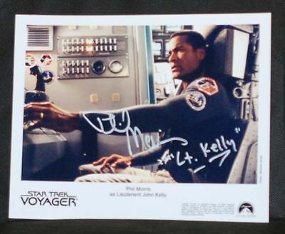 Star Trek Voyager Phil Morris ( Lt. Kelly) Autograph