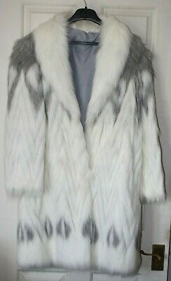 Vintage 1980s ASTRAKA faux fur coat - Size 10 - Great condition