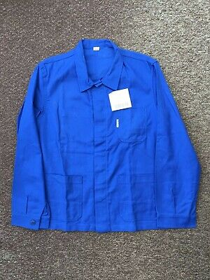 French Work Jacket Worker Chore Royal Blue Deadstock Vintage  100