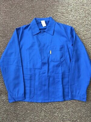 French Work Jacket Worker Royal Blue Deadstock Vintage Approx Size L/XL (105)