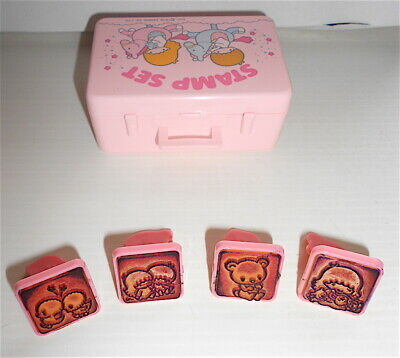 LITTLE TWIN STARS 1976 Sanrio Japan Stamp set pink loose - timbrini set usato