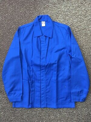 French Work Jacket Worker Royal Blue Deadstock Vintage Approx Size Medium (109)