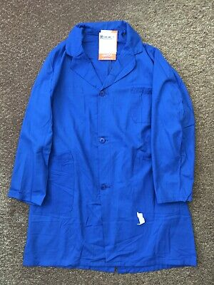 French Work Jacket Long Worker Royal Blue Deadstock Vintage Approx Size Medium