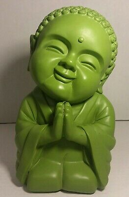 Green Praying Buddha Piggy Bank - Buddhism