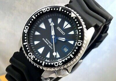 Seiko Ceramic Black Blue New Monster Automatic Diver S Date Watch Custom 7002