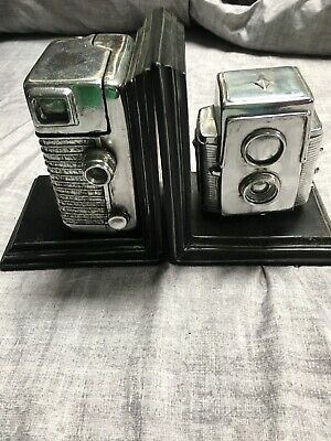 Old Vintage Style Camera Bookends Film Heavy Duty