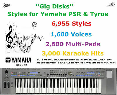 ''Gig Disks'' Styles for Yamaha PSR & Tyros