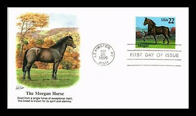 Dr Jim Stamps Us Morgan Horse American Horses First Day Cover Lexington