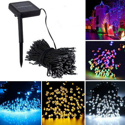 100 LED Solar String Fairy Lights Waterproof Outdoor Party Decoration CHZ