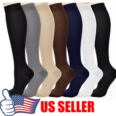 1-4 Pairs Compression 20-30mmHg Feet Support Socks Relief Miracle Calf Men Women