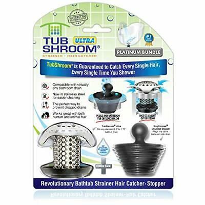 TubShroom Bath Tub Drain Protector Hair Strainer/Snare Catcher Stainless Steel