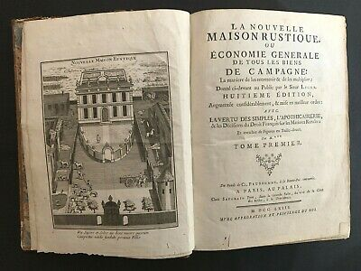 1763 GENERAL ECONOMY OF ALL THE COUNTRY ESTATES or New Country House by M.Liger