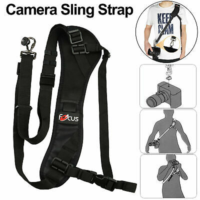 Single Shoulder Quick Rapid Sling Neck Belt Strap For Camera DSLR SLR Focus F-1