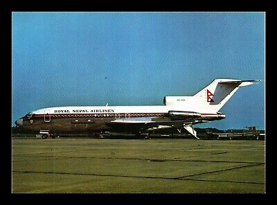 Dr Jim Stamps Us Royal Nepal Airlines Airplane Continental Size Postcard