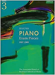 Selected Piano Exam Pieces 2007-2008: Grade 3, ABRSM, Used; Good Book