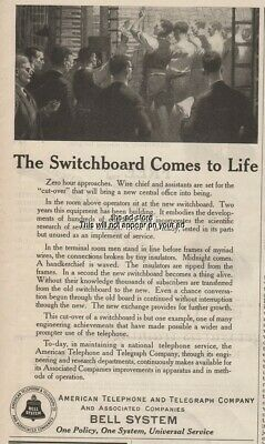 1924 AT&T Switchboard Comes to Life American Telephone and Telegraph Bell Ad
