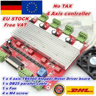 【At DE】4 Axis TB6560 V type CNC Controller Stepper Motor Driver Board High Speed