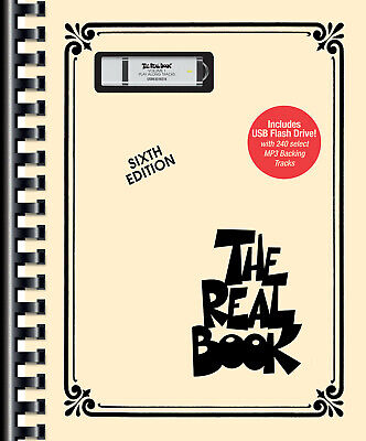 The Real Book Vol 1 6th Ed C Jazz Sheet Music Fake Book & USB Backing Tracks NEW