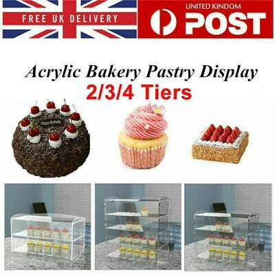 New Acrylic Bakery Pastry Display Case Stand Cabinet Cakes Donuts Cupcakes