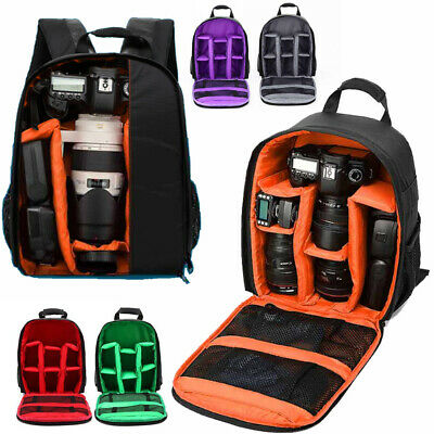 Waterproof DSLR SLR Camera Soft Case Bag Backpack Rucksack For Canon Nikon Sony