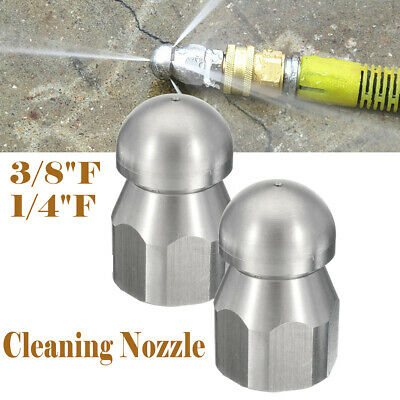 3/8''F 1/4''F Pressure Washer Drain Sewer Clean Pipe Jetter Rotary Nozzle