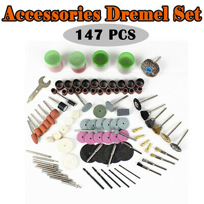 147Pcs Grinding Sanding Polishing Rotary Tool Wheel Accessory Kit Set For Dremel