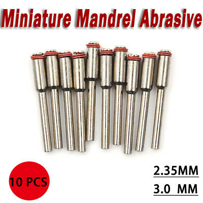 10pcs Miniature Rotary Mandrel Abrasive 3mm Wheel Holder Tools NEW UK