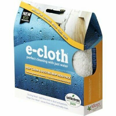 E-cloth replacement Mop Heads Dry and Deep Clean twin pack