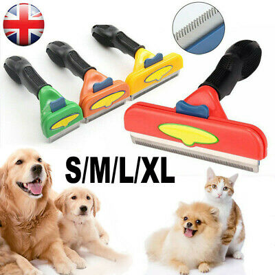 Pet Dog Cat Long Short Hair Grooming Fur Deshedding Trimmer Rake Comb Brush Tool