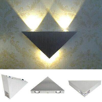 Modern Triangle LED Sconce Hallway Up Down Bedroom Wall light Lamp Decor LD518