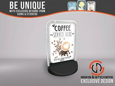 Eco Swinger Pavement Sign 'Coffee Served Here' Outdoor Street Advertising