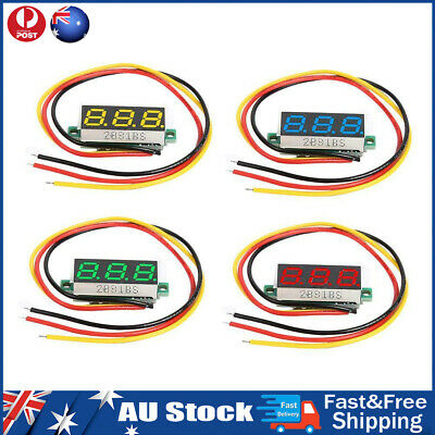 0.28 inch DC 0-100V 3 Wires Mini Gauge Voltage Meter Voltmeter LED Display