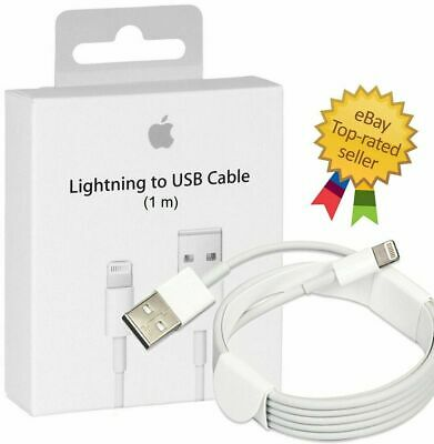 Top Quality Apple1M Lightning Charger Cable for genuine iPhone iPad 7 X 8 6 5