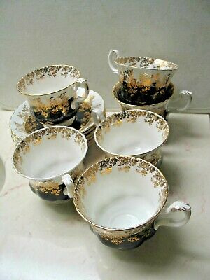 TEA for 6 - CUPS & SAUCERS by ROYAL ALBERT and made in ENGLAND.