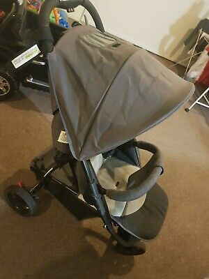 Pram available in good used condition, grey in color Suitable from Birth