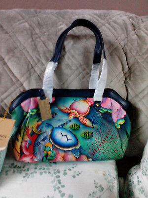 72b7f9e04 Anuschka Hand Painted Handbag Sea Turtle Ocean Hobo Coin Bag Set -Retired*