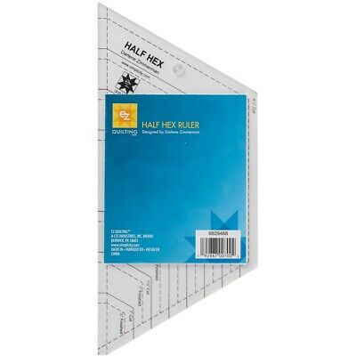 Ez Quilting Half Hex Acrylic Ruler-clear