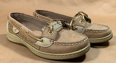 Sperry Top Sider Angelfish Gold Glitter Boat Shoes Women S