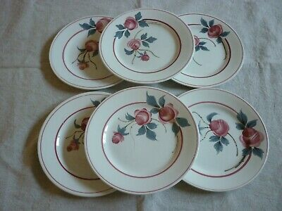 6 Assiettes A Dessert St Amand Marie Louise Ceranord