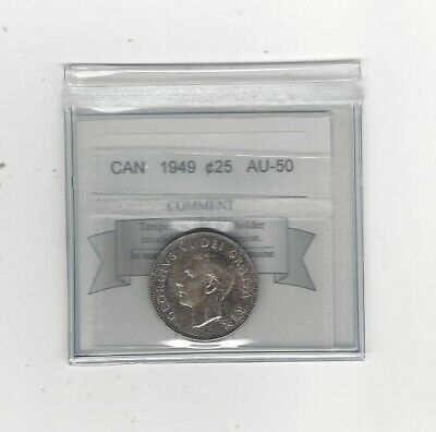 1949, Coin Mart Graded Canadian, 25 Cent, AU-50