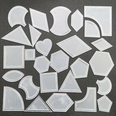 54x Quilt Templates Reusable Tool For Patchwork Quilter 2mm 27 Models Tough 2019
