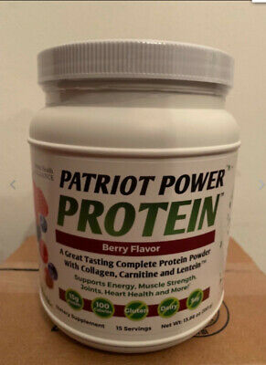 Patriot Health Alliance Power Protein ~Berry Flavor~ NEW & SEALED *15 Servings*