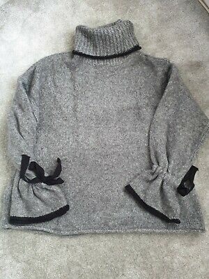 d6d43fe3 BNWT Zara Size L Oversized Roll Neck Grey Knitted Sweater Jumper, New,