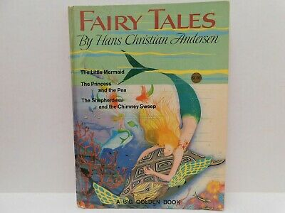 Vintage FAIRY TALES by Hans Christian Andersen Big Golden Book 1964 Gian Vanni
