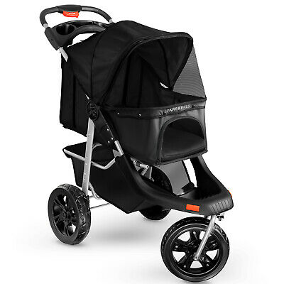 Dog Cat Stroller Deluxe Walk Folding Carriage for Small Medium Large Pet Cart