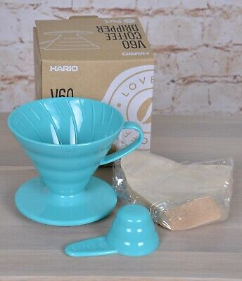 Hario V60 Teal Coffee Dripper Kit With Filters