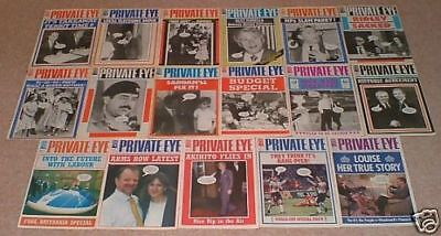 PRIVATE EYE MAGAZINE 17 ISSUES 1990s EXCELLENT CONDITION