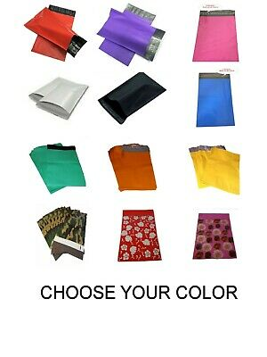 9x12 Poly Mailers Shipping White Black Blue Pink Purple Red Camo Green Orange